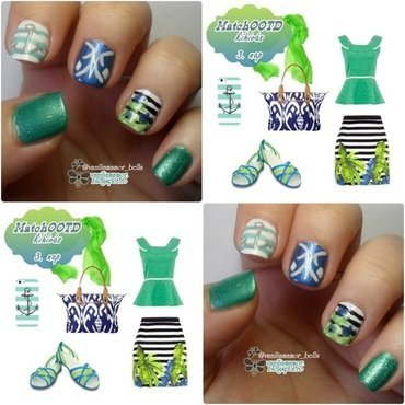 MatchOOTD 13. nail art by Isabella