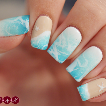 Under the Sea nail art by Becca (nyanails)