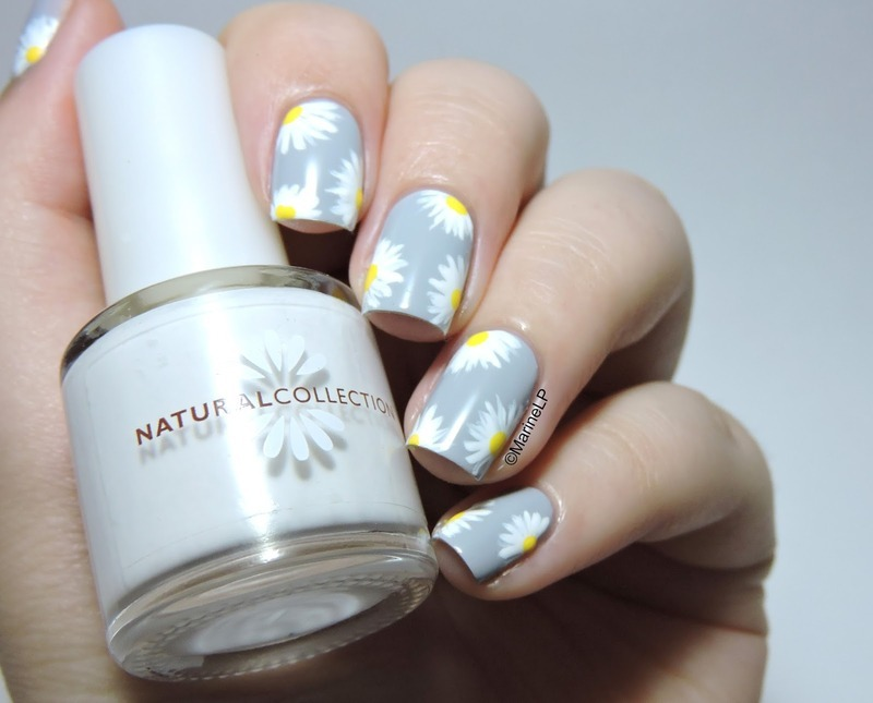 Daisies nail art by Marine Loves Polish