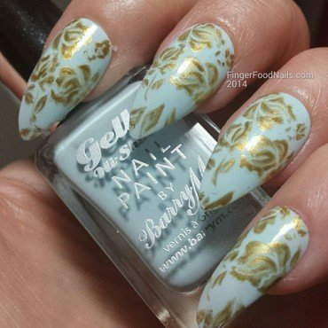 Wedgewood inspired nail art by Sam