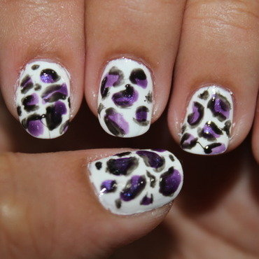 Cheetah Skin Nails nail art by ImJanine0812