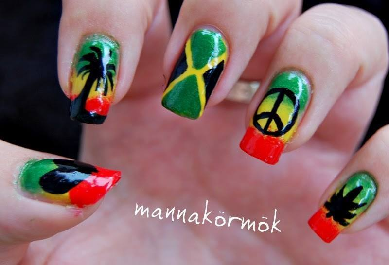 jamaica nail art nail art by Marianna Kovács - Nailpolis: Museum of ...
