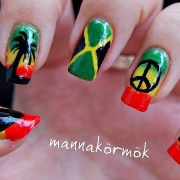jamaica nail art nail art by Marianna Kovács