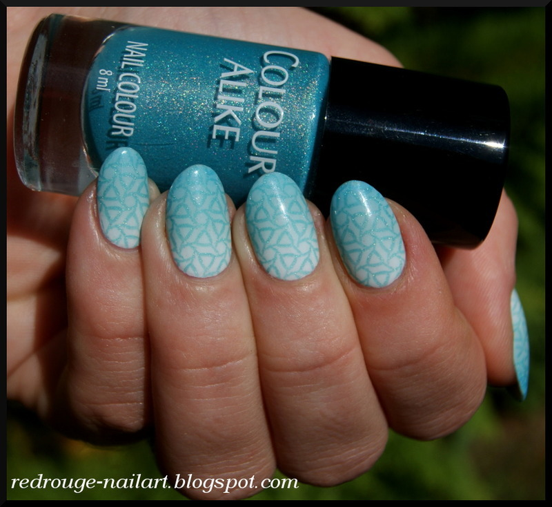 blue almonds nail art by RedRouge