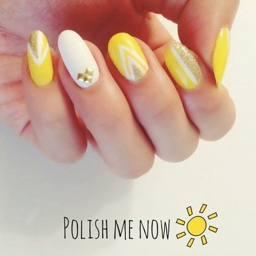 Sunny Days nail art by Jessica Chung