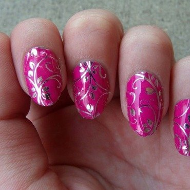 Silver floral on magenta 3 thumb370f
