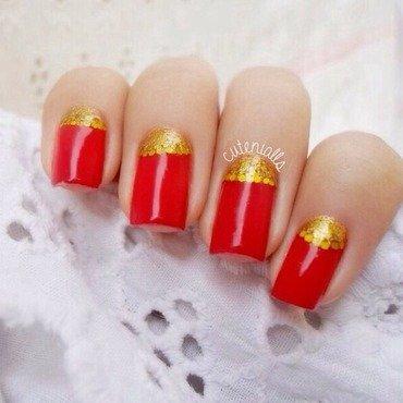 Half Moon Nails nail art by Cute Nialls