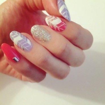 Line Art nail art by Jessica Chung
