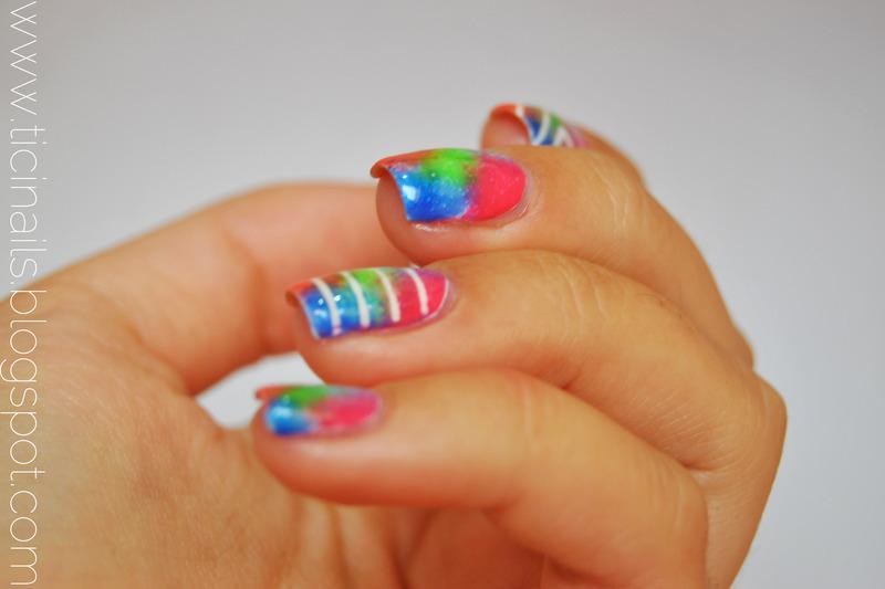 Colorful nail art by Patricija Zokalj