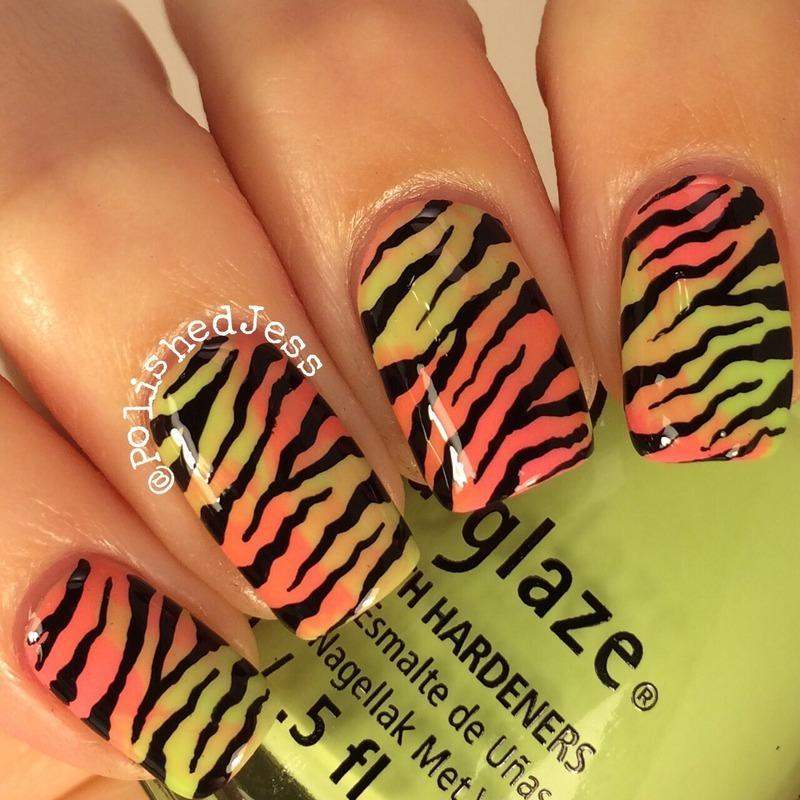 Marble Stripes  nail art by PolishedJess