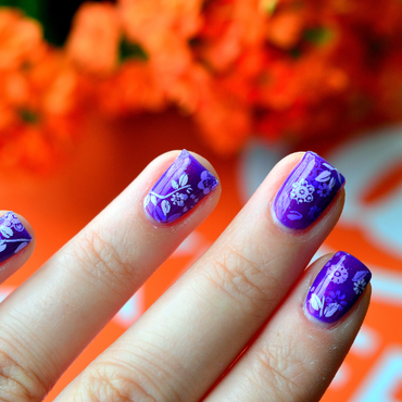 Purple Pond nail art by 9th Princess