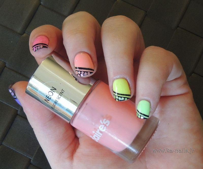 Pastilles Colorées nail art by Ka'Nails