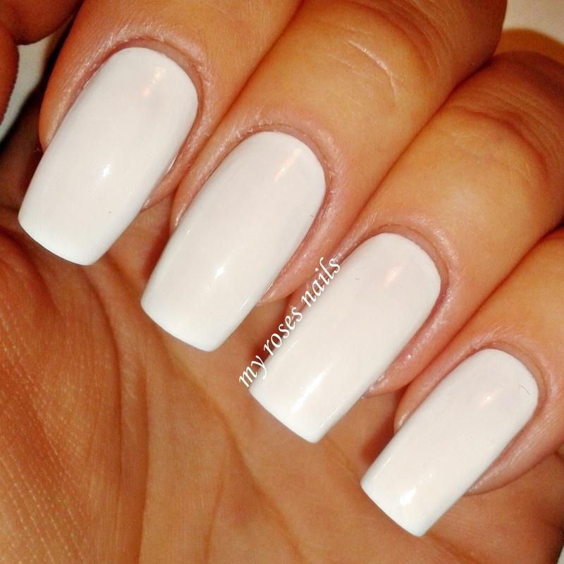 Pure White swatch nail art by Ewa