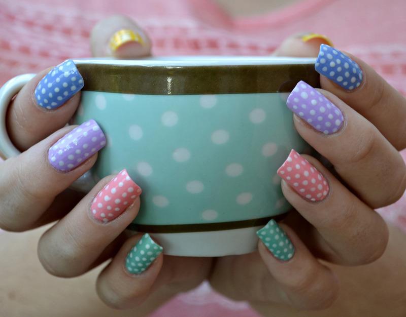 Polka Dots nail art by Jovana  Filipovic