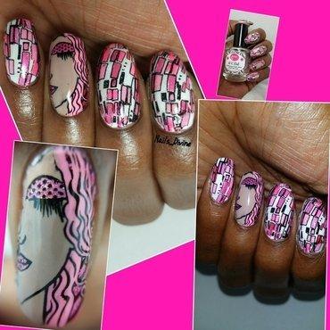 Lady Shades of Pink nail art by Nails_Divine