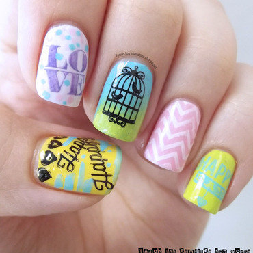 LOVE nail art by Maria