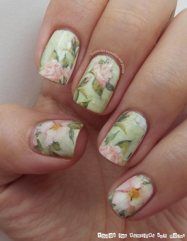 Lotus flower nail art by Maria - Nailpolis: Museum of Nail Art