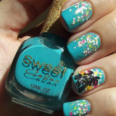 Manicura palmeras do the twist color club bornpretty store blue nail polish thumb370f