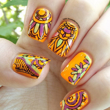 Indian manicure nail art by Maria