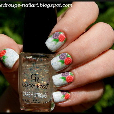 The twin roses nail art by RedRouge