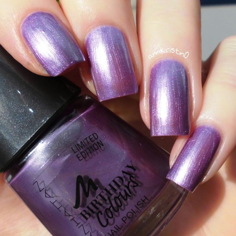 Manhattan Purple Pearls Swatch by Ann-Kristin