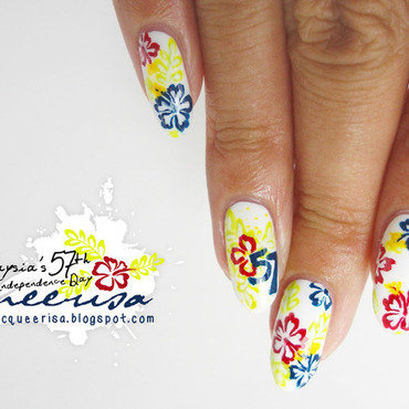 Malaysia's 57th Independence Day Nails nail art by Lacqueerisa