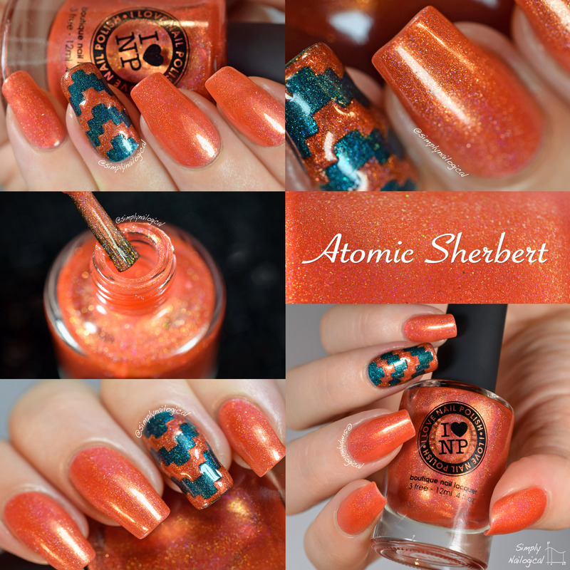 ILNP Atomic Sherbert Swatch by simplynailogical