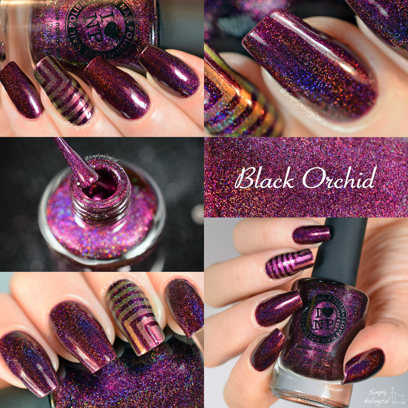 ILNP Black Orchid Swatch by simplynailogical