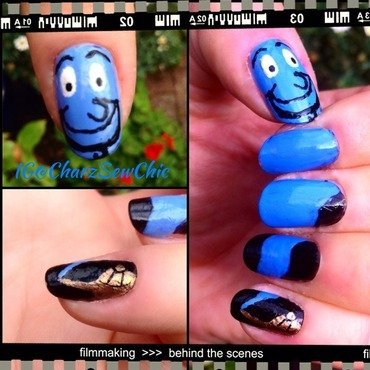 Genie. You're free nail art by Charlotte Speller