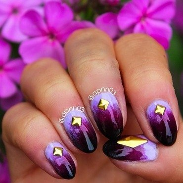 Purple Magic nail art by Amanda
