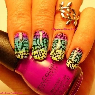 Graphic Design nail art by Angelique Adams