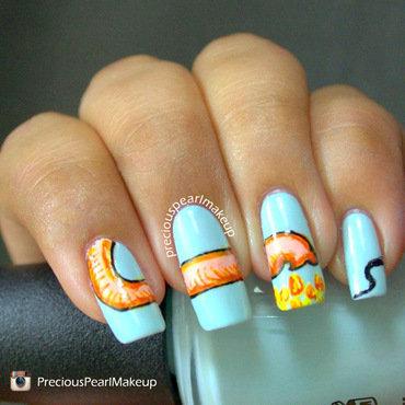 Ganesha's Trunk nail art by Pearl P.