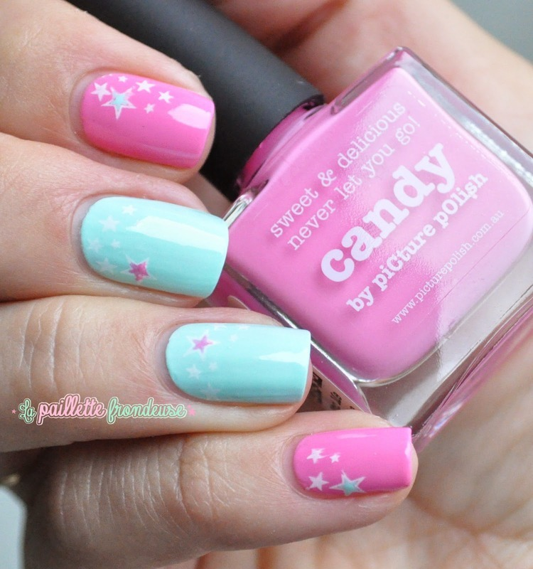 simple stary nails nail art by nathalie lapaillettefrondeuse
