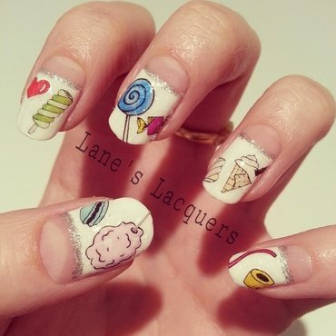 Cute Sweet Things nail art by Rebecca