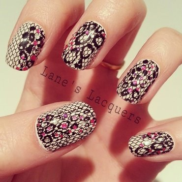 Black and white avon leopard print nail stickers with sparkle thumb370f