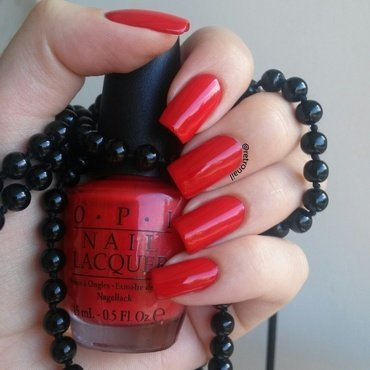 OPI Coca-cola Red Swatch by retronail