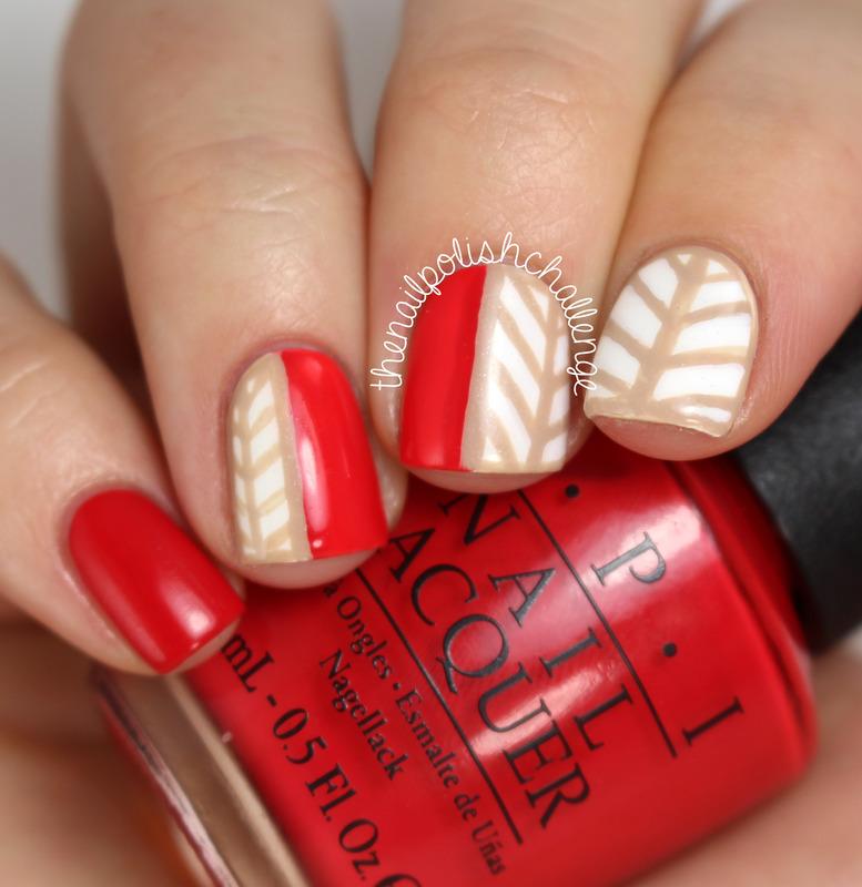 Freehand Stripes nail art by Kelli Dobrin