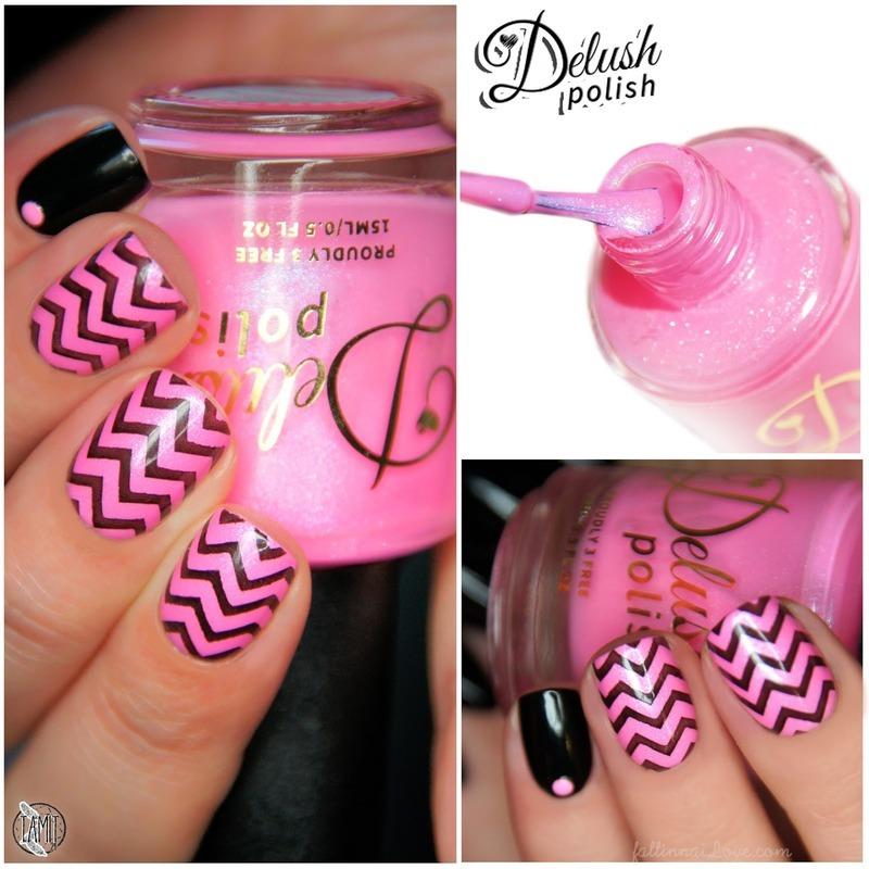 Chevron Punk Rock Nails nail art by Paulina