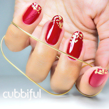 31dc2014 red gold nails thumb370f
