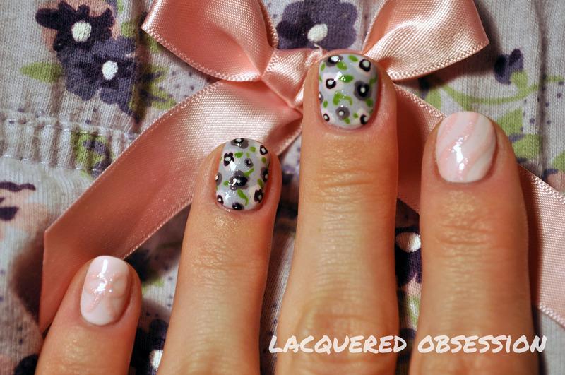 Pyjamas nail art nail art by Lacquered Obsession