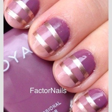 Zoya neutrals ombre nail art by Factornails