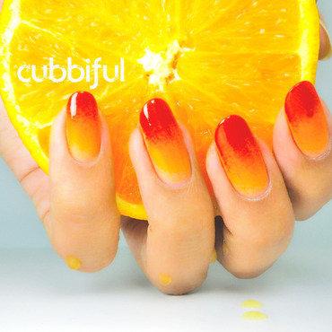 31DC2014 - Juicy Orange Nails nail art by Cubbiful