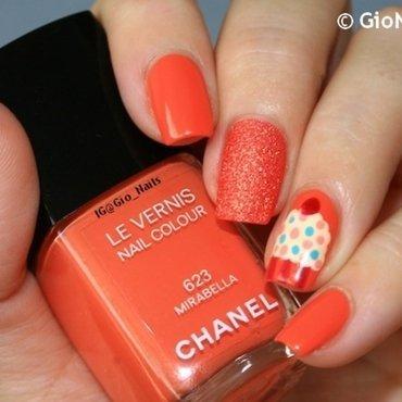 Orange Cupcake nail art by Giovanna - GioNails