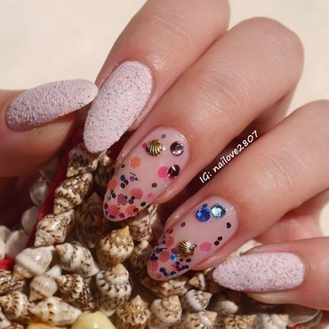 Mermaid Princess nail art by Anhy