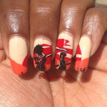 Samurai Champloo  nail art by Tonya Simmons