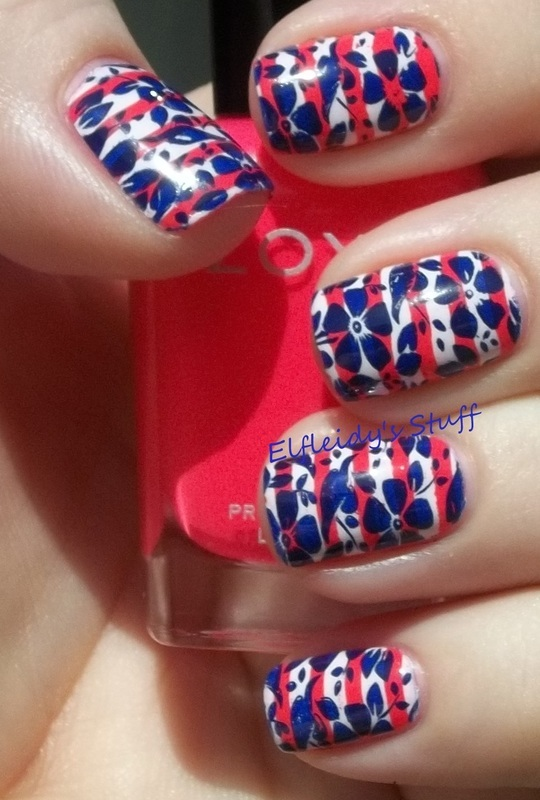 Stamping Sunday 8-31-2014 nail art by Jenette Maitland-Tomblin