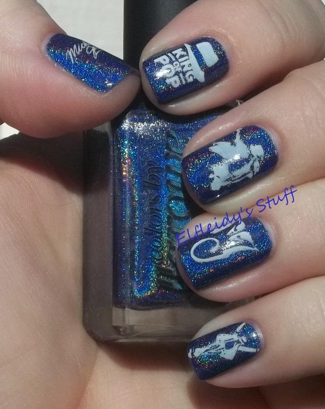 Michael Jackson tribute nail art by Jenette Maitland-Tomblin