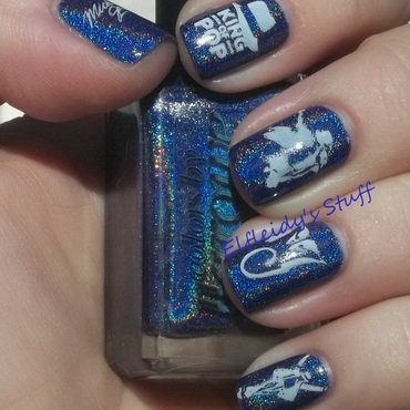 Michael Jackson tribute nail art by Jenette Maitland-Tomblin