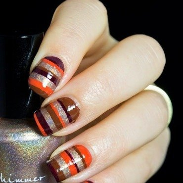 Fall Stripes nail art by  Petra  - Blingfinger
