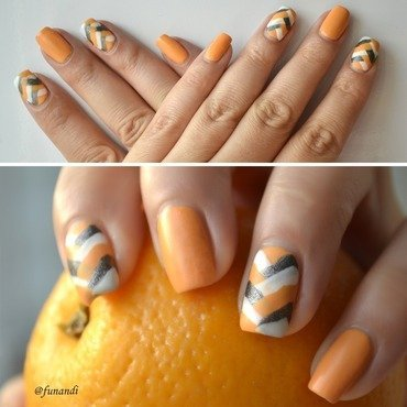 Fishtail nail art nail art by Andrea  Manases